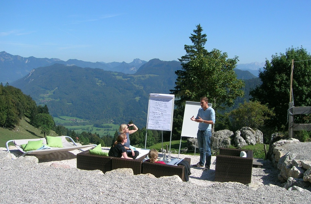 Workshop auf der Terrasse